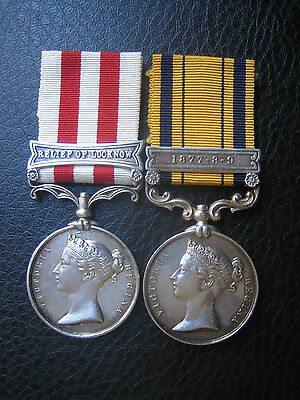 Superb Mutiny And South Africa 1879  'Zulu' Officers Medal Pair Wounded Mid