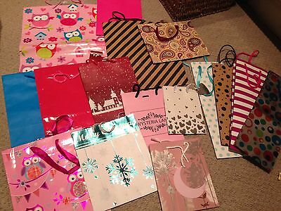 Gift bags - Joblot (21 Items) Birthday Christmas Special Occasion
