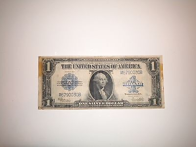 USA 1923 Large One Dollar Bill Silver Certificate
