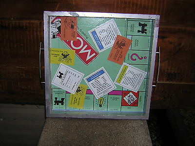 Monopoly Game Board Serving Tray