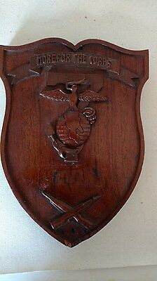 MORE FOR THE CORPS - WWI Era Wall Plaque - Old Style EGA