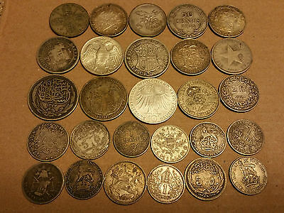 7.9 Troy Ounces Of Mixed Silver Foreign Coins 1876-1972   Lot#2