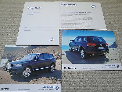 Volkswagen VW Launch Press Pack for the Touareg Dated 2002