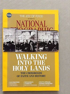 National Geographic Magazine December 2014 with Holy Lands Cover