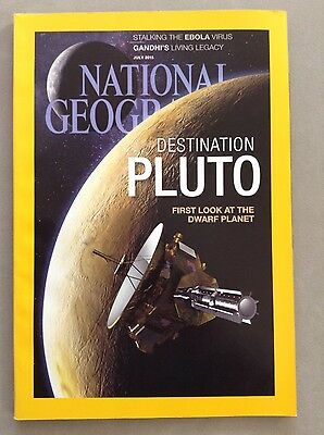National Geographic Magazine July 2015 with Pluto Cover.