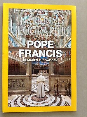National Geographic Magazine August 2015 with Pope Francis Cover