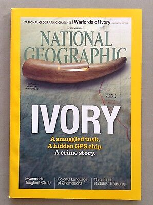 National Geographic Magazine September 2015 with Ivory Cover