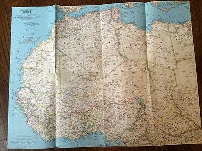 National Geographic MAP Northwestern AFRICA August 1966 - EXCELLENT CONDITION!