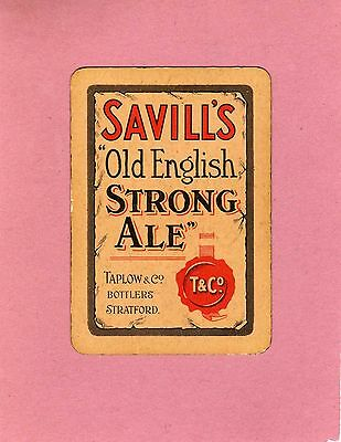Savill's Old English Strong Ale card by Taplow & Co., Stratford - Circa 1920's