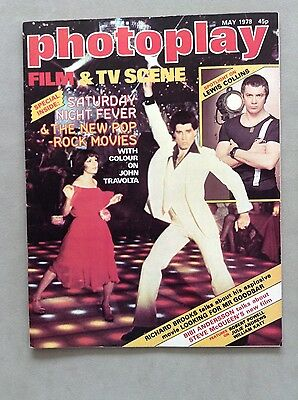 Photoplay Film Magazine May 1978 with Saturday Night Fever /John Travolta Cover