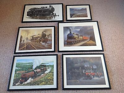 Collection of Framed Steam Train Prints