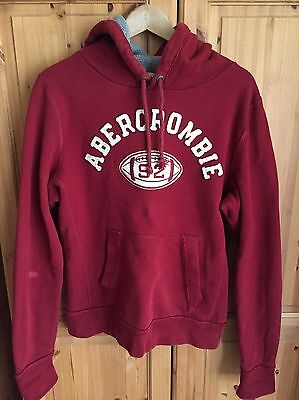 Men's Abercrombie And Fitch Size Large Burgundy Hoodie