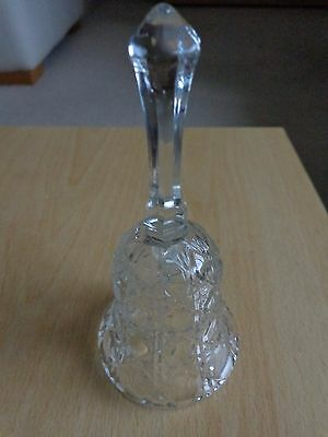 Glass bell with 'diamond' pattern