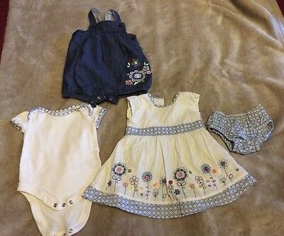 Two Baby Girl Newborn First Size Mothercare Outfit Up To 10 Lbs