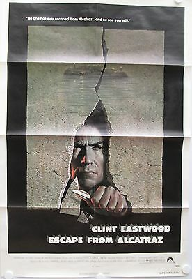Escape From Alcatraz, Clint Eastwood Vintage 1979 Original US One Sheet Poster