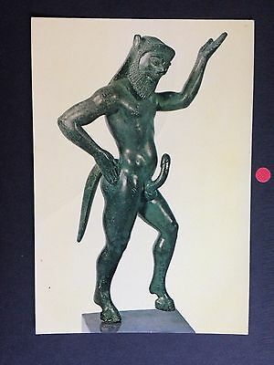 GREECE Greek satyr statue ostensibly portraying the penis rectus POSTCARD
