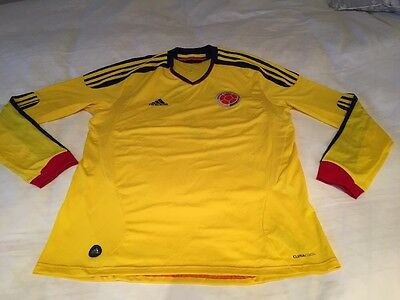 Adidas Yellow Football Shirt Colombia FC Number 7 Size L