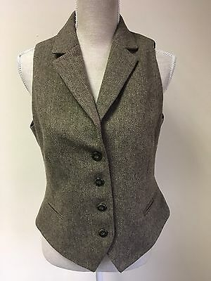 Laura Ashley Brown Formal Waistcoat With Wool Size 14 (31)