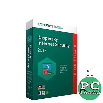 Kaspersky Internet Security 2017 1 PC - 1 ANNO - Licenza ESD