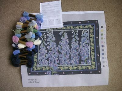 NEW Primavera Delphiniums Tapestry Kit by Julia A'Court Perfect!