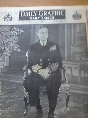 Daily Graphic & Daily Sketch  : February 15 , 1952 : Death Of King George V1