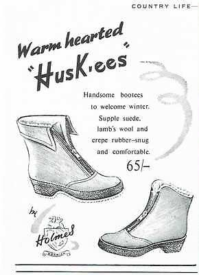 Vintage 1950's Advert - WARM HEARTED HUSKEES - 431