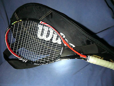 Wilson Six.one 95 Grip Size 3 (4 3/8) + carrying bag tennis racket