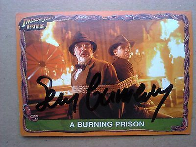 Sean Connery Signed Indiana Jones card with COA