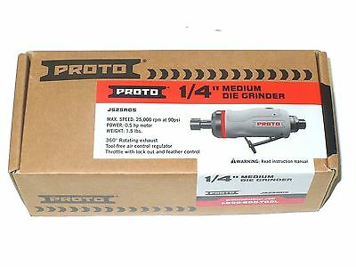 """New PROTO 1/4"""" Straight Die Grinder 0.5 HP- J525AGS - Free Shipping"""