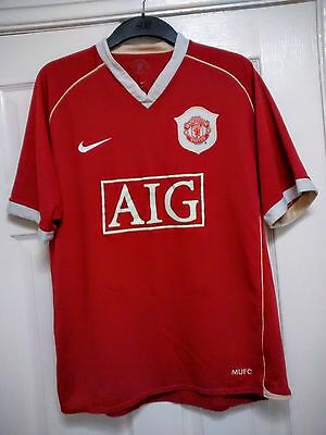 MANCHESTER UNITED Home Football Shirt LARGE