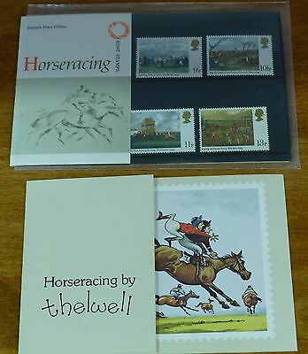 Horse Racing - GB Mint Stamp Presentation Pck (no.109) + Card by Thelwell