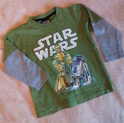 Boys - Star Wars - Long Sleeve T-Shirt - Age 3 Years Good Condition