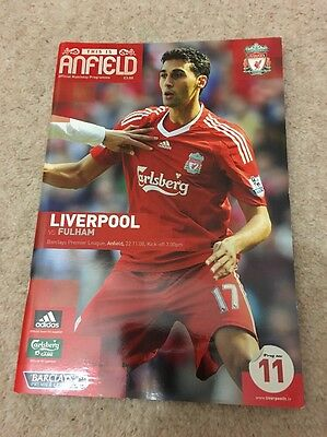Liverpool vs Fulham Official Programme 2008