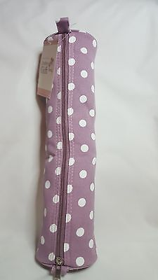 Knitting pin/ needle holder, case, organiser, MAUVE SPOT, purple, Hobbygift