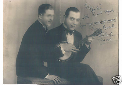The Harmony Makers Manny Randall Eddie leigh Hand Signed Vintage Photograph 1927