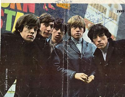 THE ROLLING STONES AUTOGRAPH 1964 with LETTER