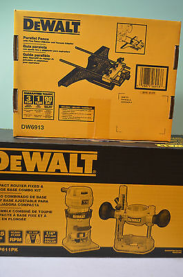 DeWalt  Compact Router Fixed/Plunge Combo Kit DWP611PK with Edge Guide