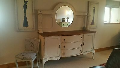 Painted Antique Mahogany Victorian Shabby Chic Sideboard
