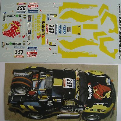 NISSAN 4 X 4 HAULOTTE PARIS DAKAR 2006 DECAL1/43e PROV. MINIATURE