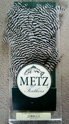 Metz Grizzly Hen Saddle 1 Fly Tying Materials