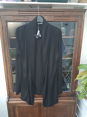 South New With Tags Size 16 Black Long Sleeve Cardigan