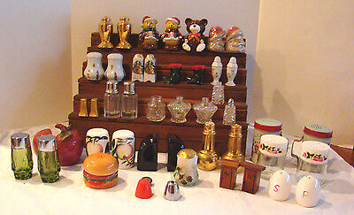 Large Lot Of Vtg - Now Salt & Pepper Shakers - 19 Pairs/7 Singles/lids