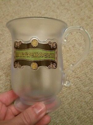 Official Studio Tour London Harry Potter Butterbeer Mug Cup Plastic Frosted