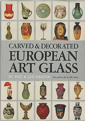European Art Glass Makers Types - French German English Swedish Austrian../ Book