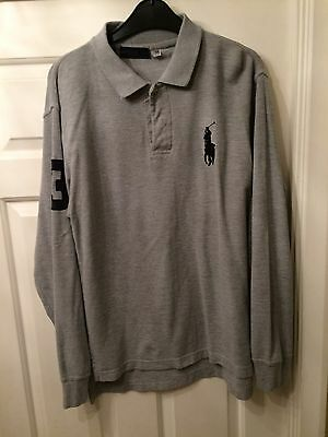 Ralph Lauren Style Long Sleeve White Polo Small