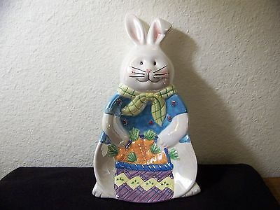 Easter Bunny Ceramic Candy Dish Spoon Rest or Wall Hanger