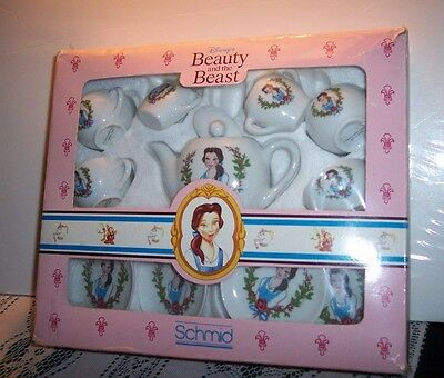 "Disney's ""Beauty and the Beast"" 12 piece porcelain tea set made by Schmid"