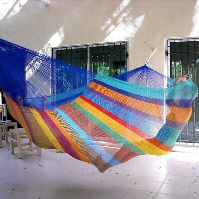Reduced-Beautiful handmade Mexican family hammock in beautiful colours