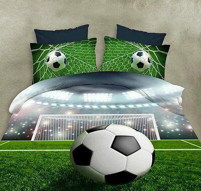 Soccer Ball On Field 3D Bedding Sets
