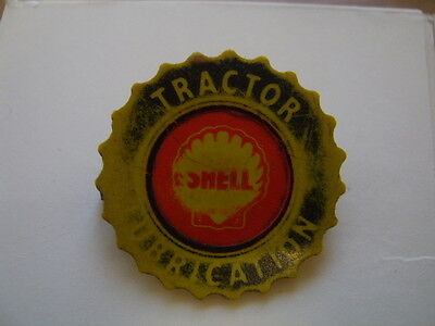 Vintage SHELL TRACTOR LUBRICATION BADGE